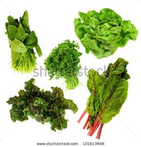gree, leafy vegetables